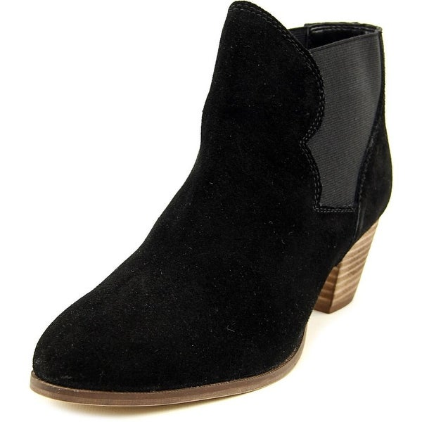 Coolway Judy Women Pointed Toe Suede Black Bootie