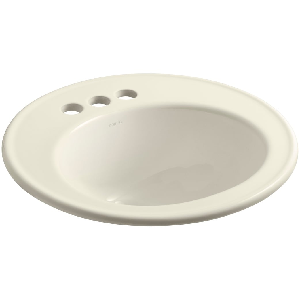 Kohler K 2202 4 Brookline 19 Drop In Bathroom Sink With 3