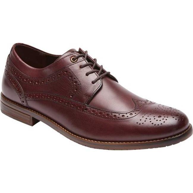 2ba3551b23942 Shop Rockport Men's Style Purpose 3 Wingtip Oxford Burgundy Leather ...