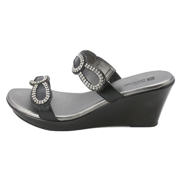 White Mountain Womens ROUNDUP Open Toe Casual Platform Sandals