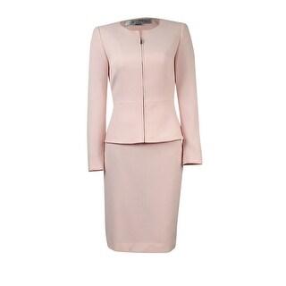 Tahari Women's Petite Seam-Detail Crepe Skirt Suit