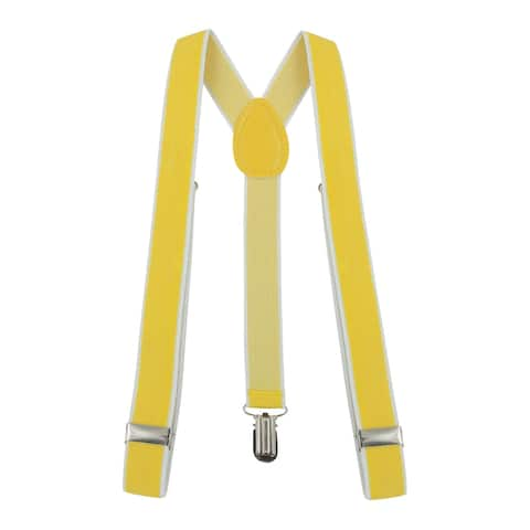 Unisex Elastic Y Shape Back Suspenders for Hallwoon Costumes - Yellow - 31 1/8 x 1 inches