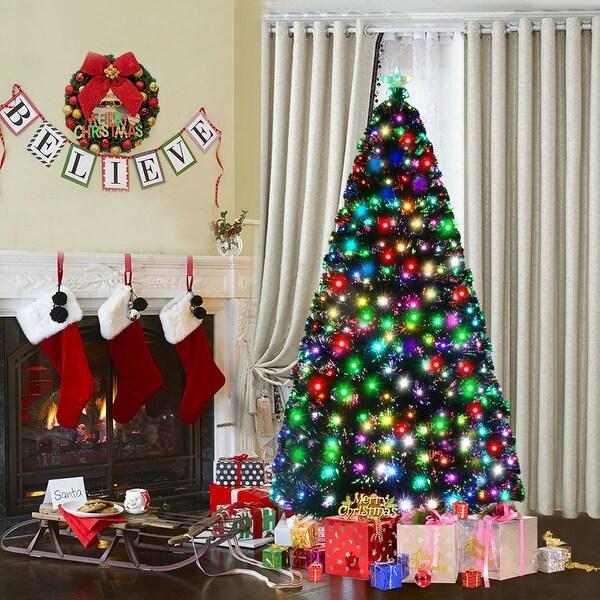 7 5 Fiber Optic Christmas Tree: Shop Costway 6Ft Fiber Optic Artificial Christmas Tree W