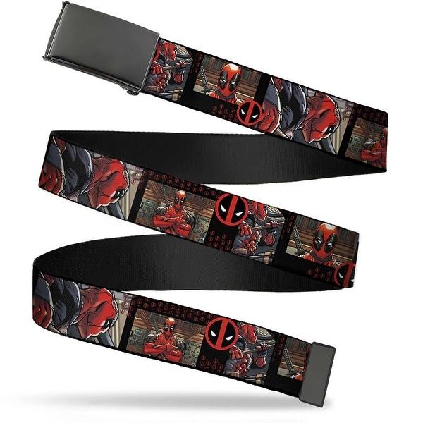 Marvel Universe Blank Black Bo Buckle Deadpool Action Blocks Deadpool Web Belt