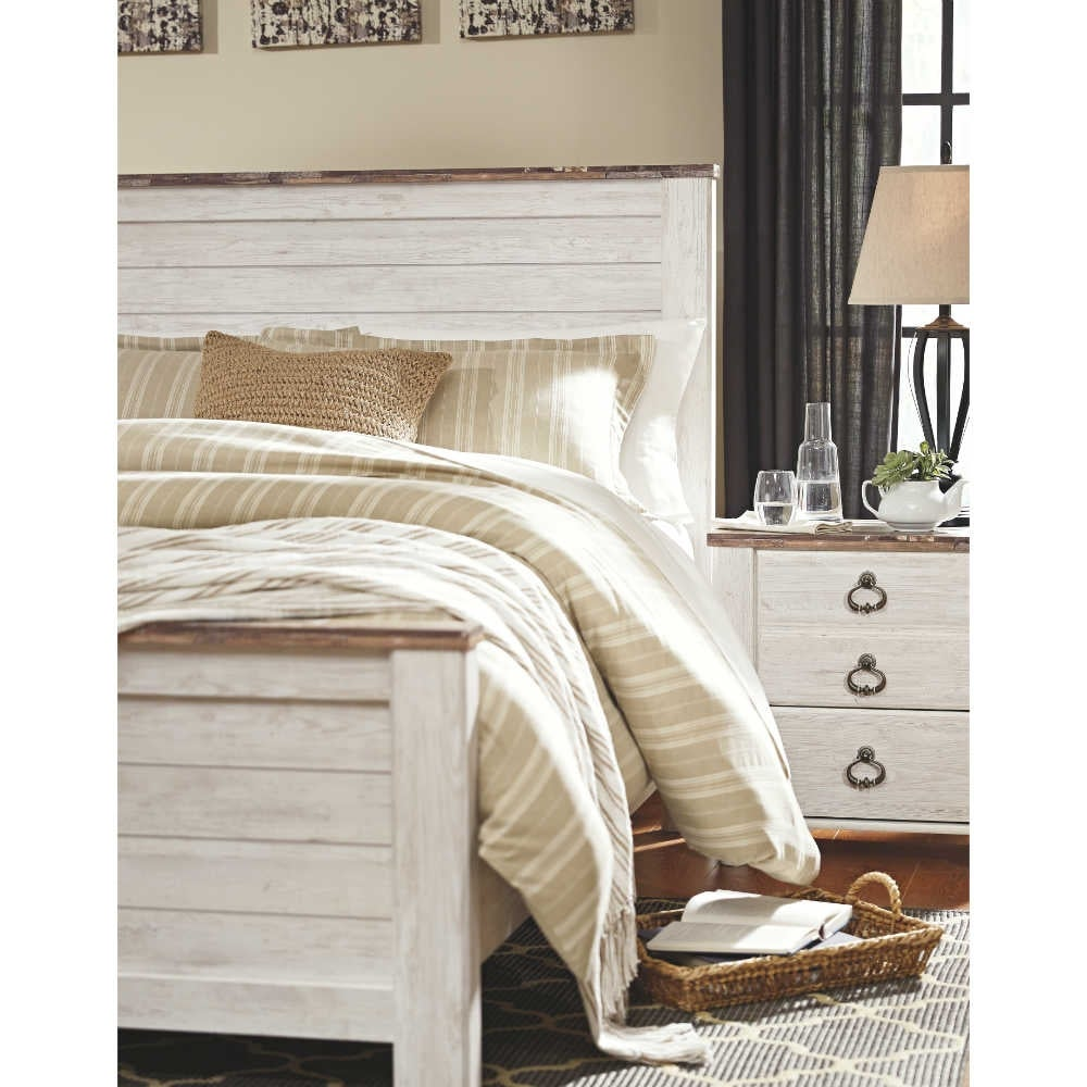new products 58835 59157 Ashley Furniture B267-57 Willowton Queen-Full Panel Headboard