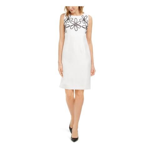 KASPER Ivory Sleeveless Knee Length Dress 8