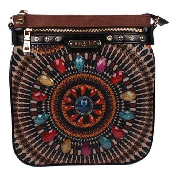 bfe3db1868b7 Shop Nicole Lee Women s Elin Boho Chic Crossbody Brown - US Women s One  Size (Size None) - Free Shipping Today - Overstock - 20972155