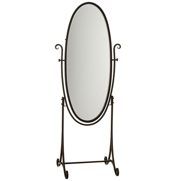 Shop 69 Quot Black Oval Free Standing Decorative Mirror With