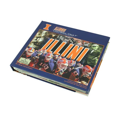 University of Illinois Football Vault Fan Reference Book - 10.5 X 12.25 X 1.5 inches