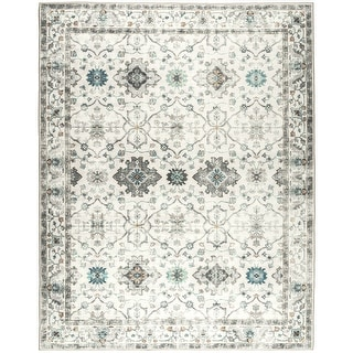 Link to ReaLife Machine Washable - Distressed Boho Border Rug Similar Items in Rugs