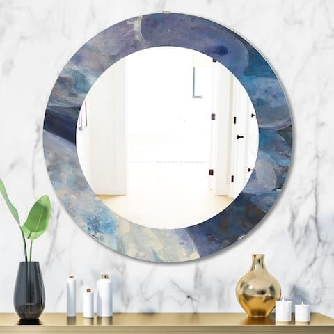 Porch & Den Daniel Indigo Abstract Pattern Mirror - Blue