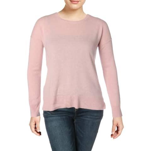 Aqua Womens Pullover Sweater Cashmere Hi-Low