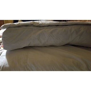 Luxurious Baffle Box 230 Thread Count White Goose Featherbed