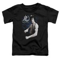 Bruce Lee-Dragon Stance - Short Sleeve Toddler Tee - Black,