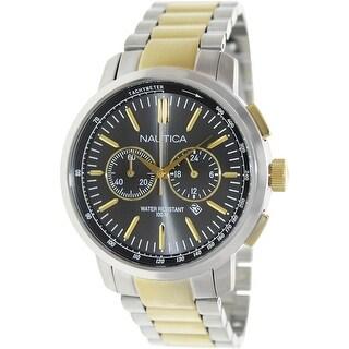 Nautica Men's Nct 800 N23601G Silver Stainless-Steel Quartz Fashion Watch