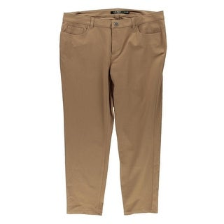 Lauren Ralph Lauren Womens Plus Cropped Pants Twill Ankle Pants