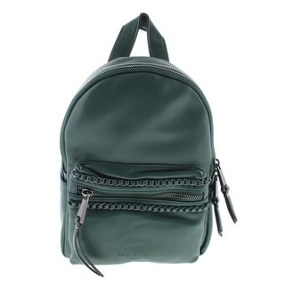 French Connection Womens Alexa Faux Leather Chain Trim Backpack