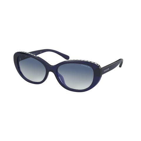 Coach HC8296U 54504L 56 Navy Woman Oval Sunglasses