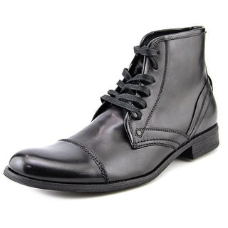 Joe's Piston Men Cap Toe Leather Black Ankle Boot