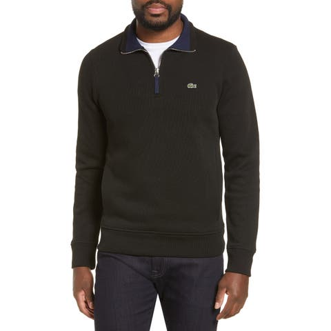 Lacoste Men's Deep 1/4 Zip Pullover Collared Sweater