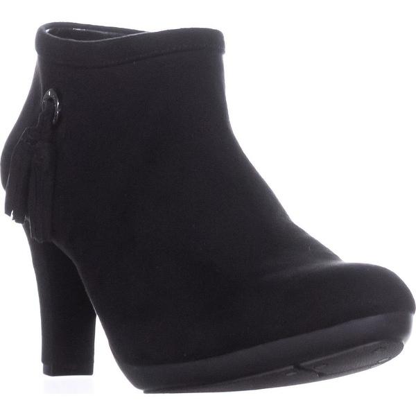 AK Anne Klein Sport Silva Ankle Boots, Black