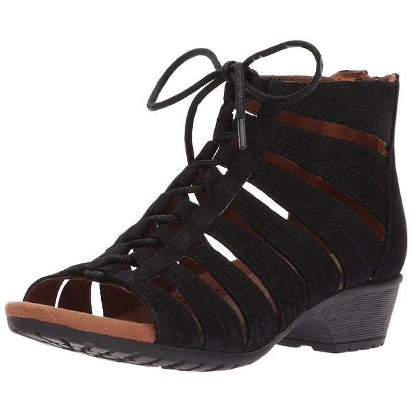 Cobb Hill Womens Gabby-CH Leather Open Toe Casual Strappy Sandals