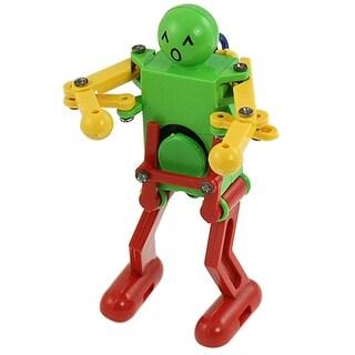 Clockwork Spring Yellow Green Red Dancing Robot for Children