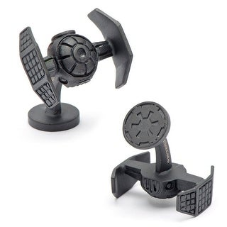Matte Black Darth Vader Tie Starfighter Cufflinks