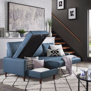 Parker Convertible Sofa with Left Facing Storage Chaise by iNSPIRE Q Modern