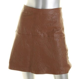 Sanctuary Womens A-Line Skirt Leather Knee-Length