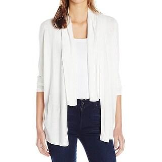 T Tahari NEW White Womens Size Medium M Flyaway Cardigan Sweater