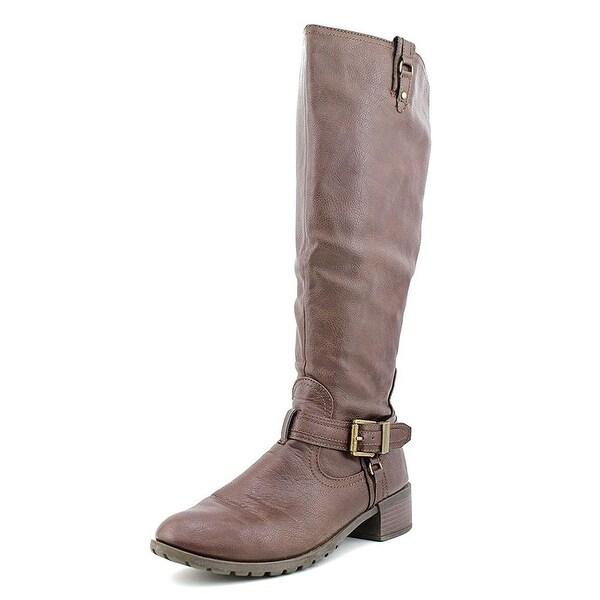 Rampage Womens IDERA Almond Toe Knee High Fashion Boots