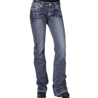Stetson Western Denim Jeans Womens Slim Med Wash 11-054-0818-0706 BU