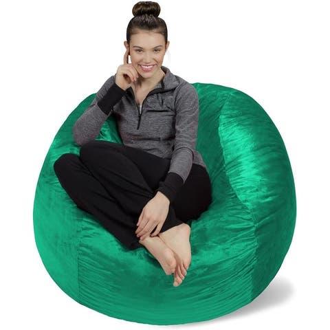 4-foot Bean Bag Chair Large Memory Foam Bean Bag