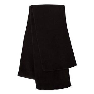 Sportsman Solid Knit Scarf - Black - One Size