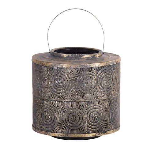A&B Home Raj Weathered Gold Lantern