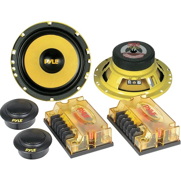 "COMPONENT SYSTEM 6.5"" PYLE GEAR;400WATTS;YLW MIDS/XOVERS"