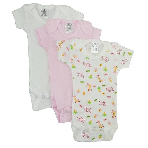 Bambini Preemie Girls Printed Short Sleeve Variety Pack - Size - Preemie - Girl