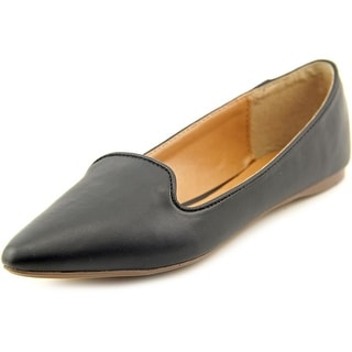 Report Roth Women  Pointed Toe Synthetic Black Flats