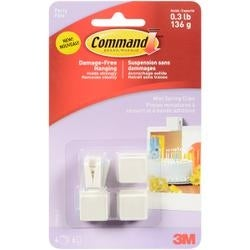4 Clips And 6 Mini Clear Strips/Pkg - Command (TM) Party Mini Spring Clips