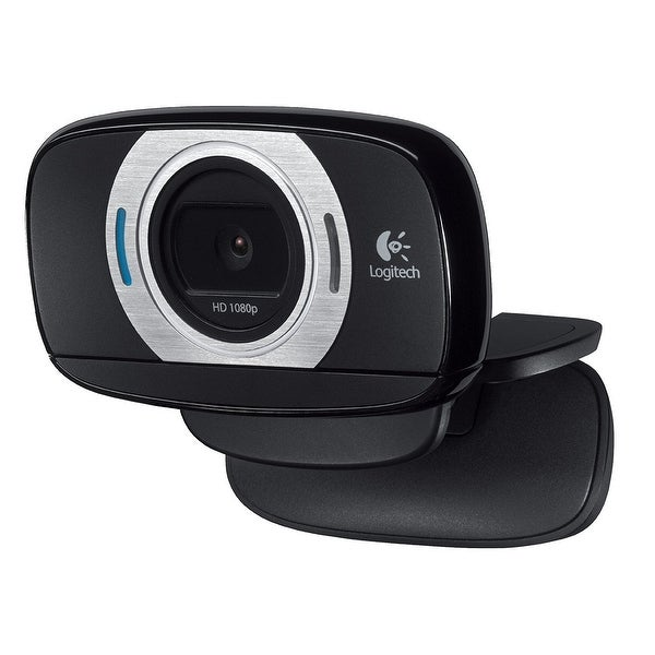 Logitech C615 Hd Computer Webcam With Microphone With Fold-And-Go Design, 360-Degree Swivel, 1080P Camera