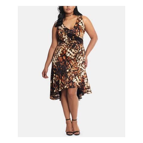 XSCAPE Beige Sleeveless Midi Sheath Dress Size 20W