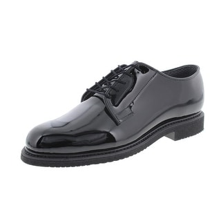 Bates Mens Patent Derby Oxfords