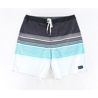O'Neill Blue Black Mens Size 34 Drawstring Board Surf Shorts
