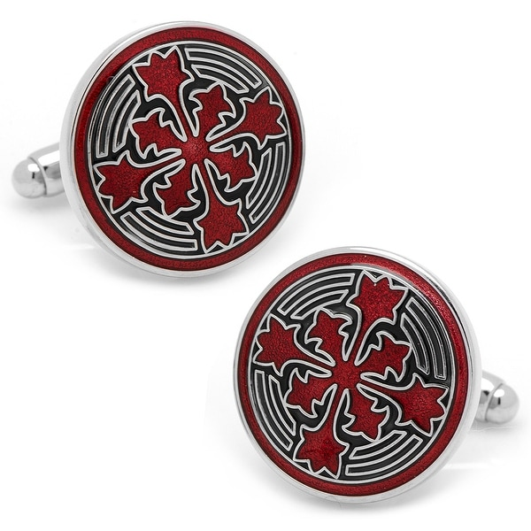 Red Firenze Petal Cufflinks