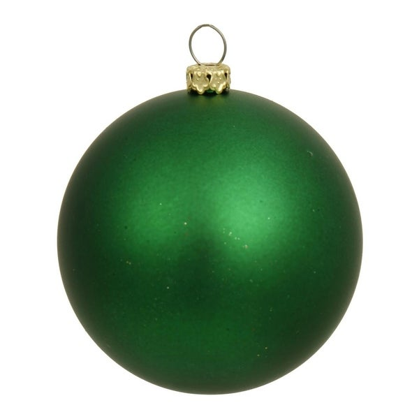 "Matte Green UV Resistant Commercial Drilled Shatterproof Christmas Ball Ornament 2.75"" (70mm)"