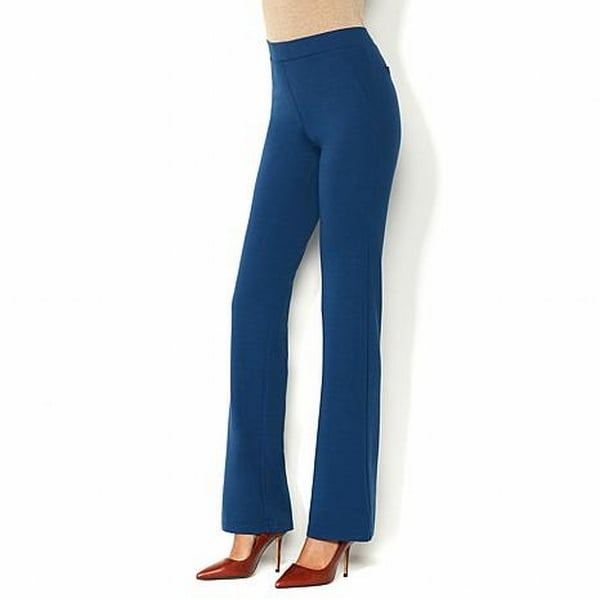 f54f07602dbfa7 Shop Iman NEW Navy Blue Womens Size 1X Plus Short Ponte Boot Cut Pants - Free  Shipping On Orders Over $45 - Overstock - 18902508
