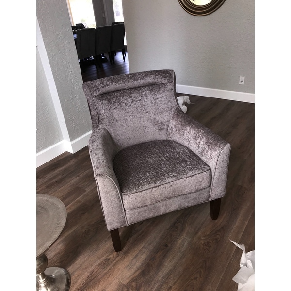 Madison Park Serena Grey Bustle Back Accent Chair