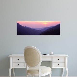 Easy Art Prints Panoramic Images's 'Mountains at sunset, Great Smoky Mountains National Park, Tennessee' Canvas Art