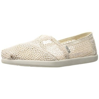 BOBS from Skechers Women's World-Daisy and Dot Flat, Natural